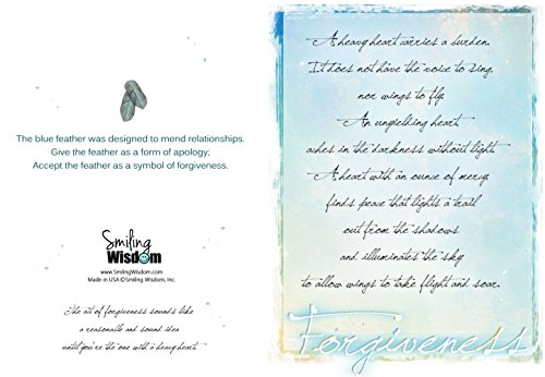 Popular Anniversary Cards For Smiling Wisdom Blue Feather Apology