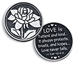 Love Pewter Pocket Good luck Love Token Coin