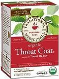 Traditional Medicinals Organic Throat Coat Herbal Wrapped Tea Bags, 16 ct, 2 pk
