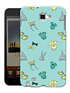 """Humor Gang Cute Baby Stuff - Green Printed Designer Mobile Back Cover For """"Samsung Galaxy Note 1"""" (3D, Matte, Premium Quality Snap On Case)"""