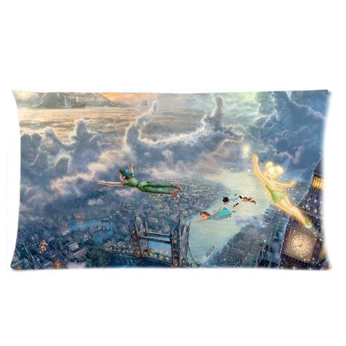 Fan Create Disney Peter Pan Fantastic World Custom Zippered Pillow Cases 20x36 (one side) by throw pillow cases (Disney World Pillow compare prices)