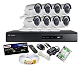 HIKVISION 8CH-DS-7208HGHI-SH-Turbo-HD-720P-DVR + HIKVISION DS-2CE16COT-IR TURBO BULLET CAMERA 8pcs + 2TB WD HDD + ACTIVE COPPER CABLE + ACTIVE POWER SUPPLY (FULL COMBO)
