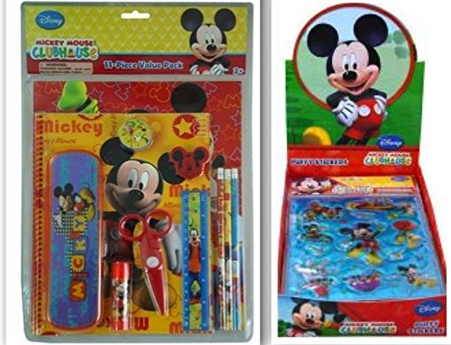 Disney-Mickey-Mouse-Clubhouse-Back-to-School-and-Scrapbooking-Bundle-2-Items-11-Piece-Value-Pack-and-11-Piece-Puffy-Sticker-Set