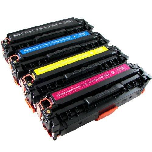 Toner Clinic ® TC-CE410 4PK Compatible Laser Toner Cartridge Set for HP 305A CE410X Black CE411A Cyan CE413A Magenta CE412A Yellow Compatible With HP LaserJet Pro 300 Color M351A, Pro 300 Color MFP M3