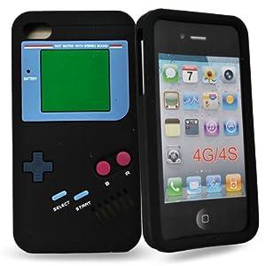 Accessory Master- Noir ' Gameboy' la conception hard Housse pour iphone 4s