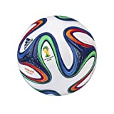 adidas Performance Brazuca Top Glider Soccer Ball, White/Night Blue/Multicolor, 4