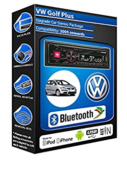 Volkswagen Golf Plus autoradio Alpine UTE 72BT-kit mains libres Bluetooth pour autoradio stéréo