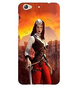 ColourCraft The Warrior Girl Design Back Case Cover for LeEco Le 1S