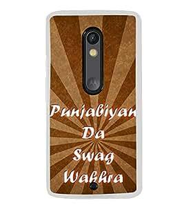 Punjabiyan Da Swag Wakhra 2D Hard Polycarbonate Designer Back Case Cover for Motorola Moto G3 :: Motorola Moto G (3rd Gen) :: Motorola Moto G (Gen 3) :: Motorola Moto G Dual SIM (3rd Gen) :: Motorola Moto G3 Dual SIM