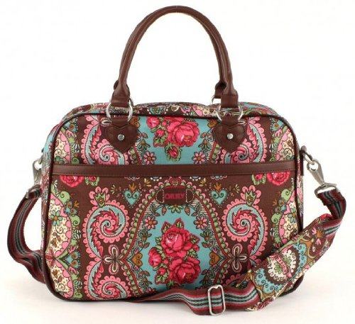Oilily Office Bag Tasche Schultertasche Notebooktasche Travel Braun Brown