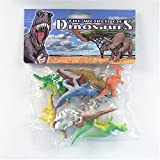 Set of 12 Dinos! Small Plastic Toy Dinosaur Figures ~ Esco Imports