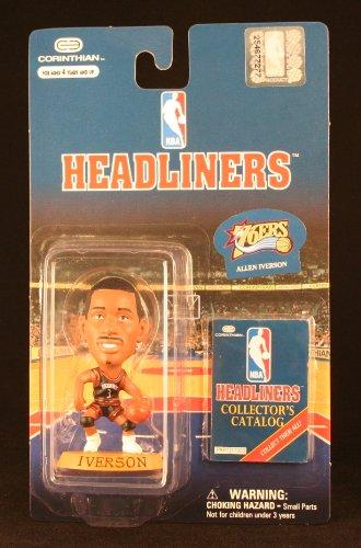 ALLEN IVERSON / PHILADELPHIA 76ERS * 3 INCH * 1997 NBA Headliners Basketball Collector Figure