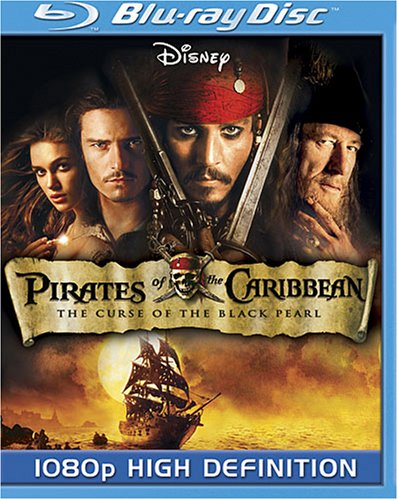 Cover art for  Pirates of the Caribbean: The Curse of the Black Pearl [Blu-ray]