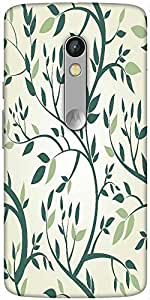 Snoogg Vector Seamless Pattern With Branches Designer Protective Back Case Cover For Motorola Moto X Play