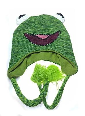 Muppets Kermit the Frog Knit Laplander Beanie Hat