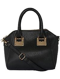 ToniQ Black Hand Bag For Girls,Women(Black) - B01DZYF9E4