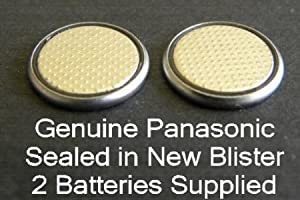 One (1) Twin Pack (2 Batteries) Panasonic CR2016 Lithium Coin Cell Battery 3v Blister Packed