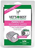 Vet's Best 1 Count Perfect Fit Washable Female Dog Diaper, Small/Medium