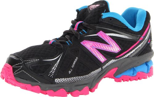 New Balance Unisex-Child Outdoor Multisport Training Shoes KJ610PB Black/Pink 4 UK Child, 37 EU