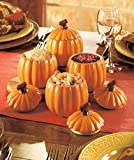 Set of 4 Pumpkin Side Dishes Holder Jars Fall Thanksgiving Family Gathering Dining Room Table Decor