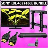 Sony Bravia Z-Series KDL-40Z4100B 40in. 1080P LCD HDTV Black + Sony DVD Player w/ Wall Mount Accesso