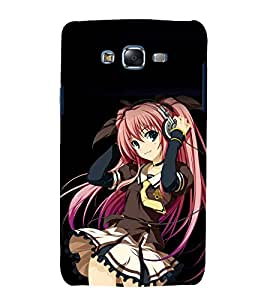 printtech Anime Cute Beautiful Girl Back Case Cover for Samsung Galaxy J5 / Samsung Galaxy J5 J500F