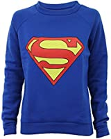 Pull Sweatshirt Femme Imprimé Logo Batman ou Superman Tendance Neuf