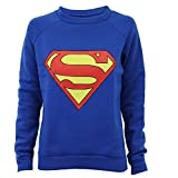 Pull Sweatshirt Femme Imprimé Logo Batman Superman Tendance Neuf - Small / Medium, Royal - Superman...
