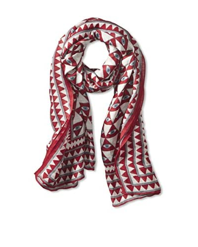 Theodora & Callum Women's Luxor Tie-All Scarf/Pareo, Red Multi