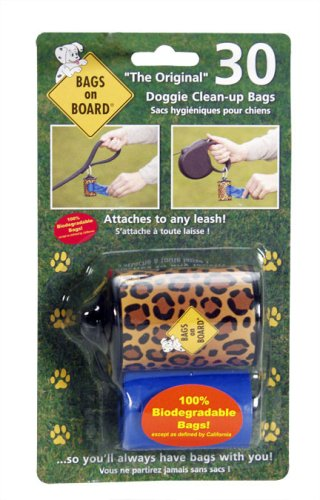 Bags On Board Dispenser Leopard Print, 30 Refill Bags front-876054