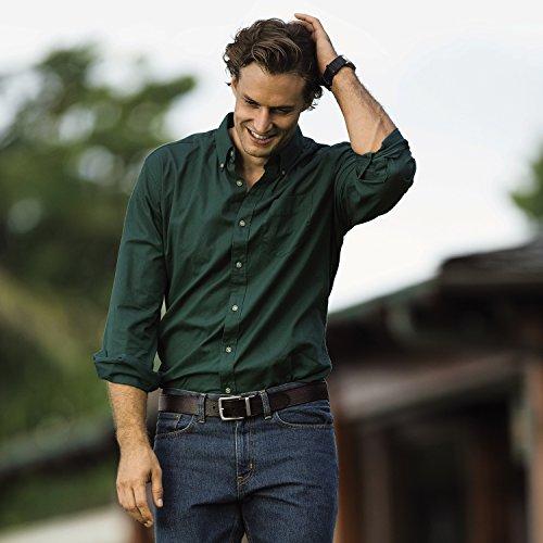 (エディー・バウアー) Eddie Bauer 長袖シグネチャーツイルロゴボタンダウンシャツ(ダステッドインディゴ XL)