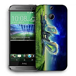 Snoogg Abstract Machine Radiant Printed Protective Phone Back Case Cover For HTC One M8