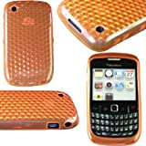New Stylish Gel Jelly Case Cover for BLACKBERRY CURVE BB 8520 / 9300 TEXTURED ORANGE