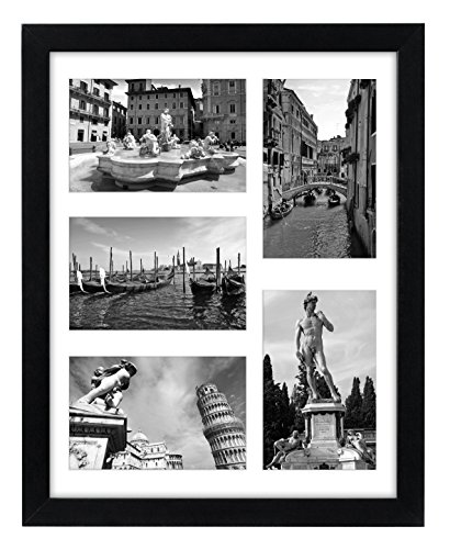Collage Picture Frame 11x14 - Displays Five 4x6 Inch Pictures with Mat and Glass Protection - Top Selling Multiple Picture Frame (Picture Frame Display compare prices)