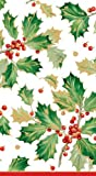 Caspari Hand Towels Christmas Decor Christmas Party Paper Guest Towels Holly