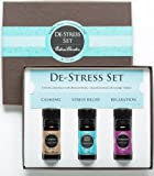 De-Stress Essential Oil Set- 100% Pure Therapeutic Grade Aromatherapy Oils- 3/ 10 ml of Calming, Stress Relief and Relaxation Blends