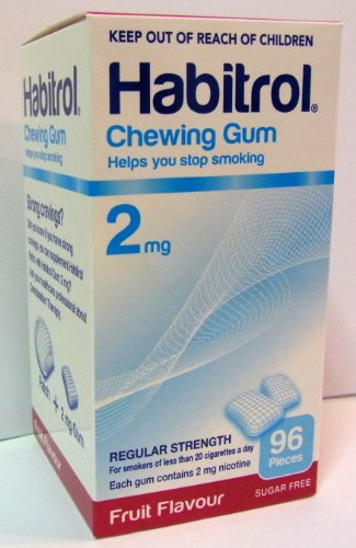 Habitrol Nicotine Quit Smoking Gum, 2mg, Fruit flavor coated gum. 96 pieces per box Picture
