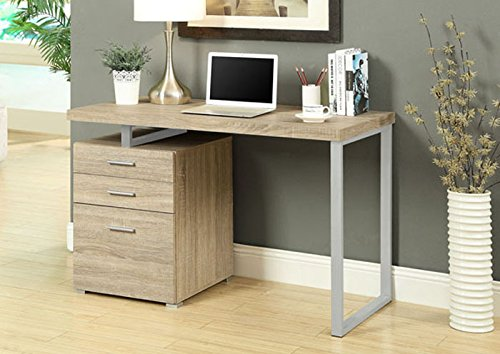 """NATURAL RECLAIMED-LOOK LEFT OR RIGHT FACING 48""""L DESK (SIZE: 48L X 24W X 30H)"""