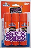 Elmer's Jumbo Glue Stick (3 Pack) 1.4 oz (40g) each - Washable...