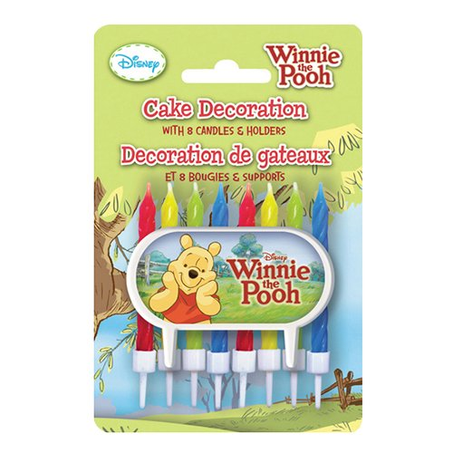 Winnie the Pooh Cake Topper & Birthday Candle Set - 1