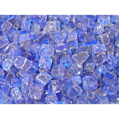 American Fireglass 10-Pound Fire Glass With Fireplace Glass And Fire Pit Glass, 1/4-Inch, Cobalt Blue