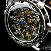 B.R.B 機械式自動巻き 腕時計 スケルトン仕様ウォッチ(brb008bksv)