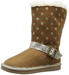 OshKosh B\'Gosh Iris G Polka Dot Sherpa Boot (Toddler/Little Kid), Brown, 5 M US Toddler