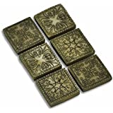 Fairy Garden - Ancient Square Stepping Stones - Set of 6