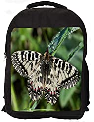 """Snoogg Mixed Color Butterfly Casual Laptop Backpak Fits All 15 - 15.6"""" Inch Laptops"""
