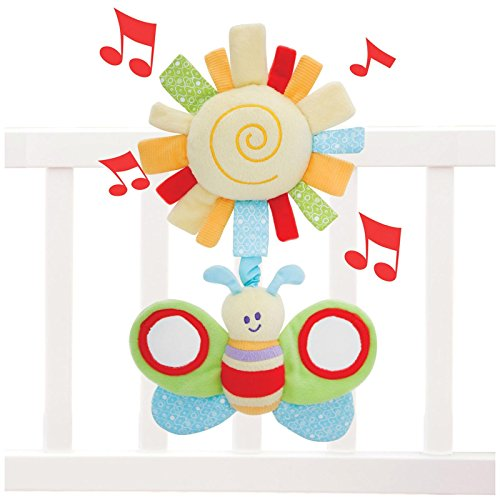 Little Bird Told Me LB3008 Breezy Butterfly Musical Pull Toy Baby Toy