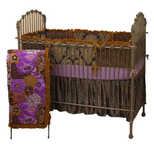 Cotton Tale Designs Wild Elegance 4 Piece Bedding Set, Purple Black