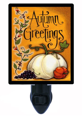 Autumn Night Light - Autumn Greetings - Fall Pumpkins