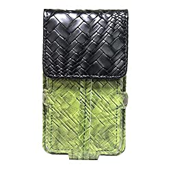 Jo Jo A6 Bali Series Leather Pouch Holster Case For Ulefone Vienna Green Black
