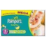 Pampers Baby Dry Size 3+ (Midi +) Mega Box - 92 Nappies